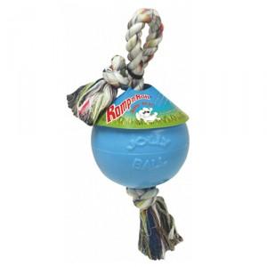Jolly Ball Romp Roll voor de hond Baby Blauw
