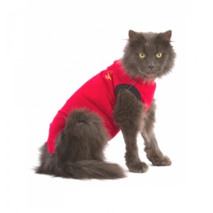 Medical Pet Shirt Kat XXXS Rood