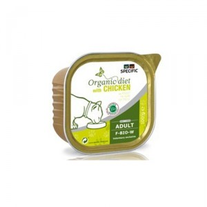 Specific F-BIO-W Organic Diet 7 x 100 gr. Chicken