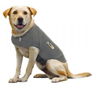 Thundershirt voor angstige hond grijs