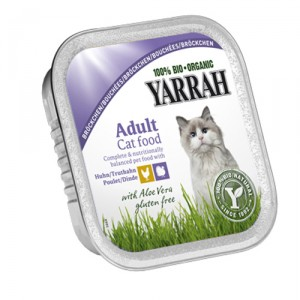 Yarrah - Adult Cat food Chicken & Turkey Aloe Vera Bio 16x100g