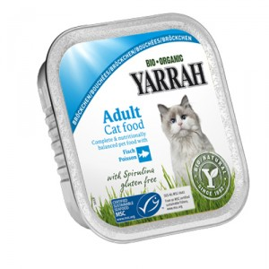 Yarrah-Cat Chunks Chicken Fish with Spirulina Bio 16x100g