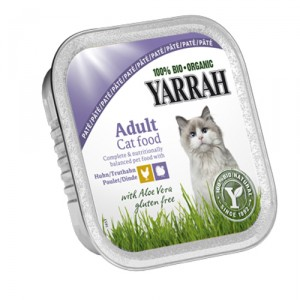 Yarrah-Cat Paté Chicken Turkey with Aloë Vera Bio 16x100g