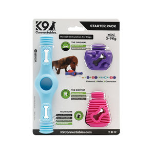 K9 Connectables Starter Pack - Medium - Blauw, Paars & Roze