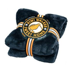 Kiwi Walker Sweet Home Blanket – Maxi – Donkergrijs/blauw