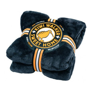 Kiwi Walker Sweet Home Blanket – Mini – Donkergrijs/blauw