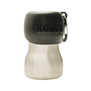KONG H2O Stainless Steel Water Bottle - Zwart - 280 ml