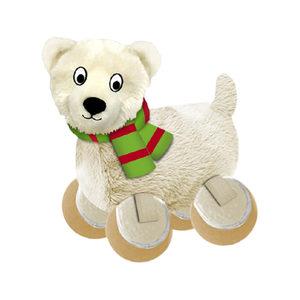 KONG Holiday TenniShoes - Small - Polar Bear
