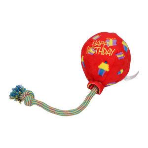 KONG Occasions Birthday Balloon - Rood - Medium - Happy Birthday