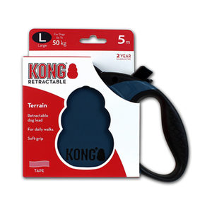 KONG Retractable Leash Terrain – L – Blauw