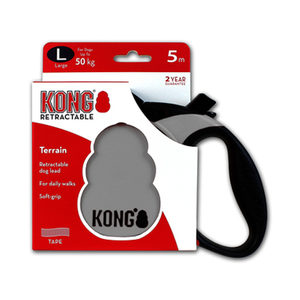 KONG Retractable Leash Terrain - L - Grijs