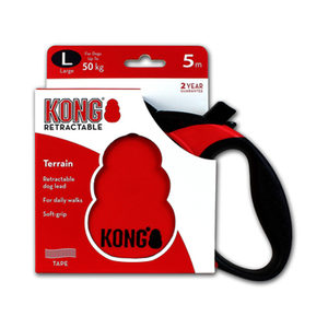 KONG Retractable Leash Terrain – L – Rood