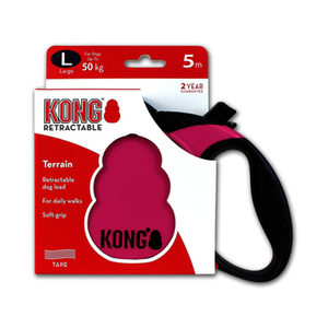 KONG Retractable Leash Terrain – L – Roze