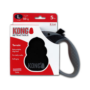 KONG Retractable Leash Terrain – L – Zwart