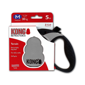KONG Retractable Leash Terrain – M – Grijs