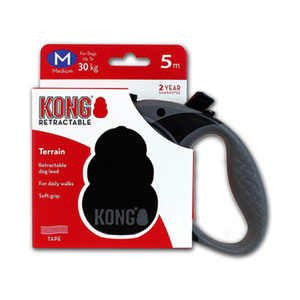 KONG Retractable Leash Terrain – M – Zwart