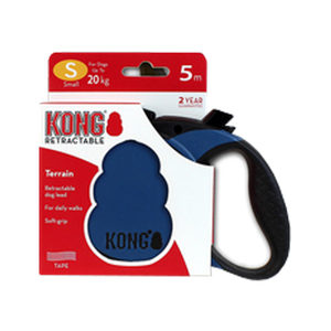 KONG Retractable Leash Terrain – S – Blauw