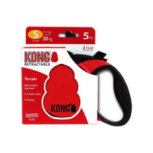 KONG Retractable Leash Terrain – S – Rood
