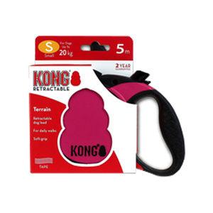 KONG Retractable Leash Terrain - S - Roze
