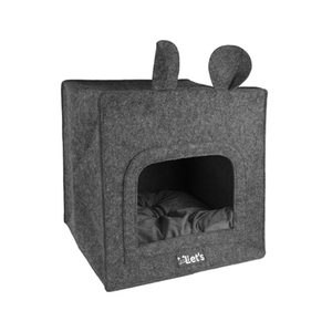 Let's Sleep Pet Cave Chunk – Antraciet