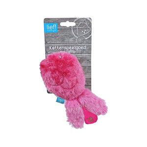 Lief! wrestling vis girls met catnip roze 18x9x5 cm