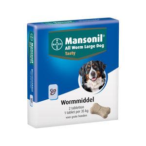 Mansonil All Worm Large Dog 2 tabletten