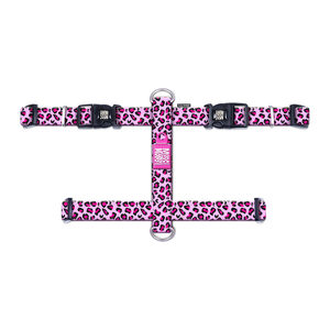 Max & Molly H-Hondenharnas - Leopard Pink - XS