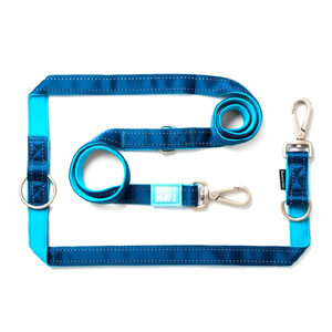 Max & Molly Multi-Function Hondenriem – Blauw – M