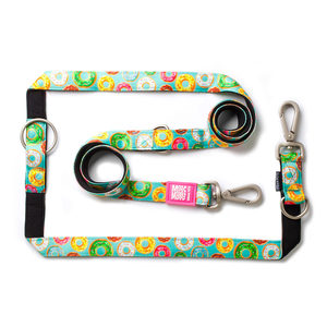 Max & Molly Multi-Function Hondenriem - Donuts - XS