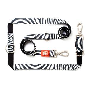 Max & Molly Multi-Function Hondenriem – Zebra – L