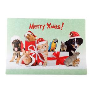 Merry Pets Kerst Placemat Verschillende Dieren