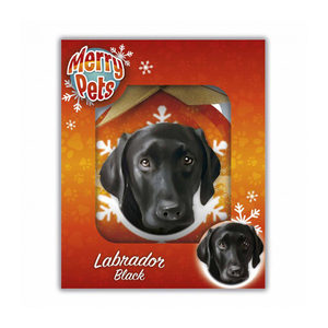 Merry Pets Kerstbal Hond – Labrador (Black)
