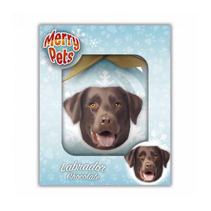 Merry Pets Kerstbal Hond – Labrador (Chocolate)