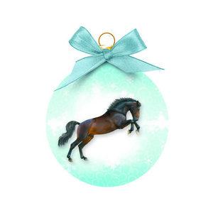 Merry Pets Kerstbal Paard - Springend Paard