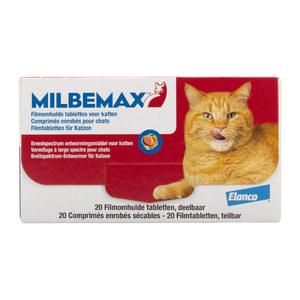 Milbemax - grote kat - 20 tabletten kopen