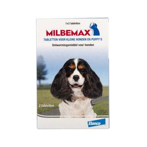 Milbemax - kleine hond - 2 tabletten (THT 12-19)