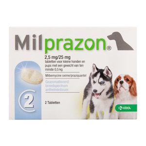 Milprazon kleine hond (2,5 mg) - 2 tabletten