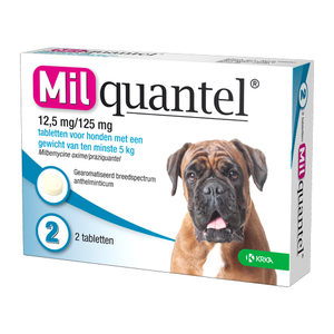 Milquantel Hond (12,5 mg) - 2 tabletten