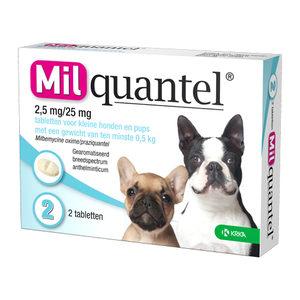 Milquantel Kleine Hond/Pup (2,5 mg) - 2 tabletten