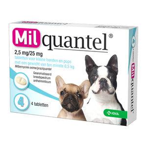 Milquantel Kleine Hond/pup (2,5 mg) - 4 tabletten