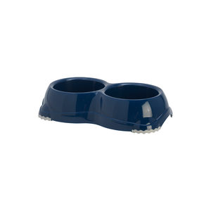 Moderna Plastic Dubbele Hondeneetbak – Donkerblauw