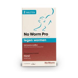 No Worm Pro Hond - 2 tabletten