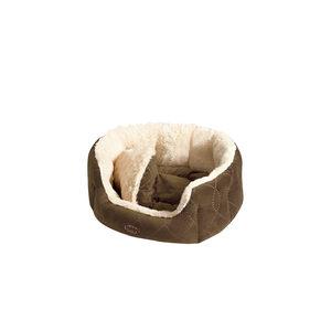 Nobby – Comfortbed Ovaal Ceno – Bruin – 86 x 70 x 24 cm
