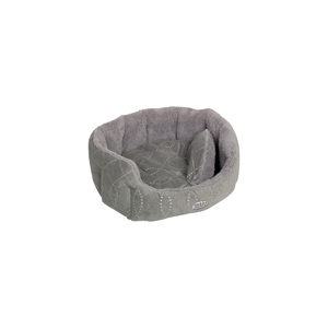 Nobby – Comfortbed Ovaal Ceno – Grijs – 65 x 57 x 22 cm