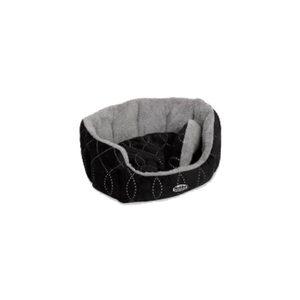 Nobby – Comfortbed Ovaal Ceno – Zwart/Grijs – 45 x 40 x 10 cm