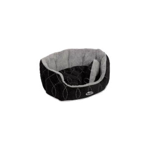Nobby – Comfortbed Ovaal Ceno – Zwart/Grijs – 65 x 57 x 22 cm