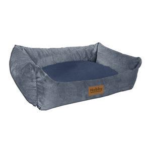 Nobby Design Hondenmand Velours - Grijs & Marineblauw - 70 x 60 cm