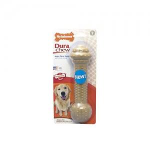 Nylabone Dura Chew Barbell Peanut Butter Kluif - Large