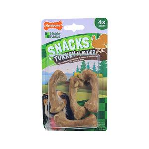 Nylabone Healthy Edibles Snacks Kalkoen – 4 stuks