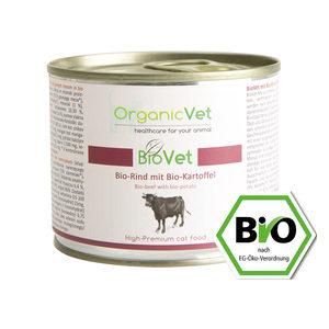 OrganicVet Cat BioVet Biologische Rund 6 x 200 gram